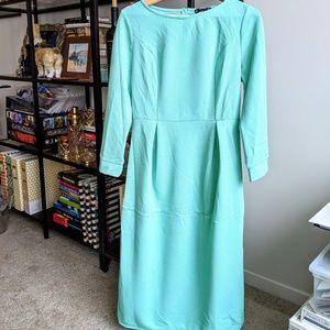 NWOT Mint Green long sleeve midi dress size L